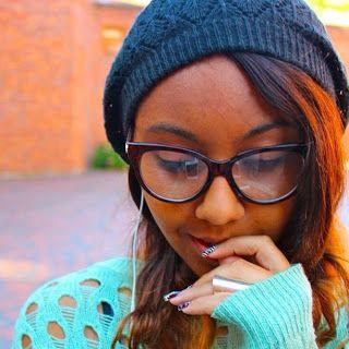black nerd Cute