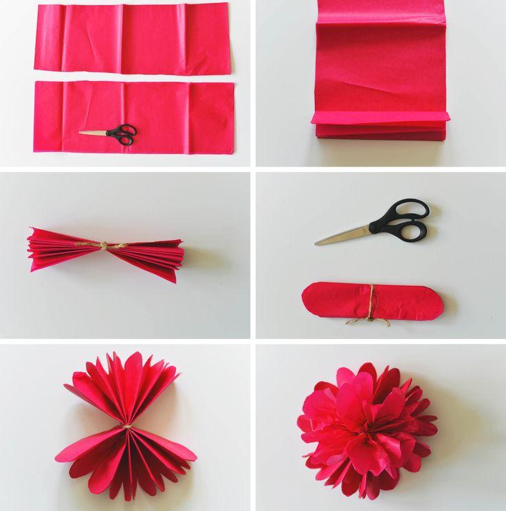 37 best deko bhne images on pinterest diy flowers flower diy tissue paper flowers mightylinksfo