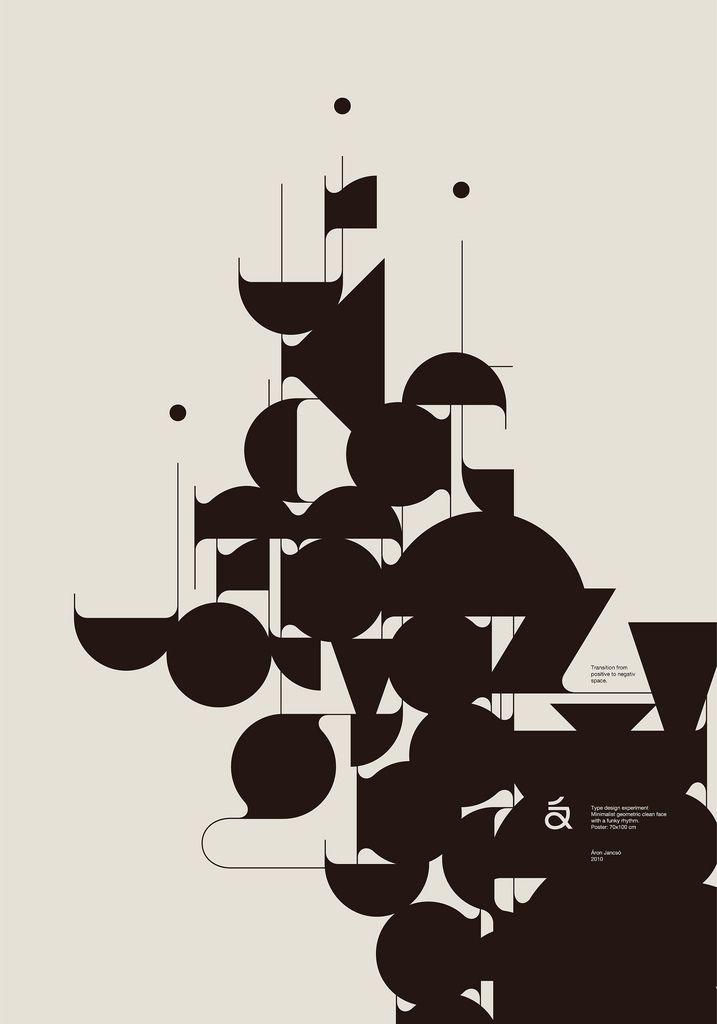Aron Jancso: Graphics Design Prints, Typography Fonts, Negative Spaces, Jancso, Posters Design, Black White, Graphics Posters, Posters Typography, Design Posters