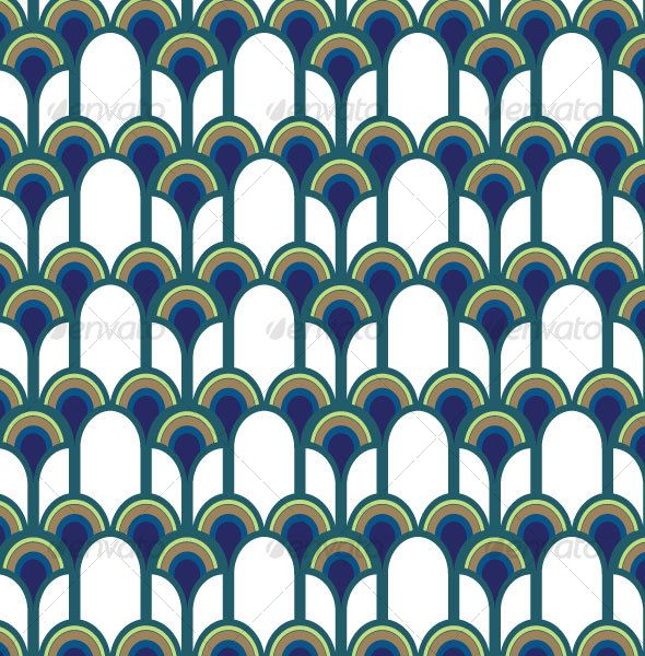 Blue Peacock Pattern - GraphicRiver Item for Sale - Cool nail polish pattern