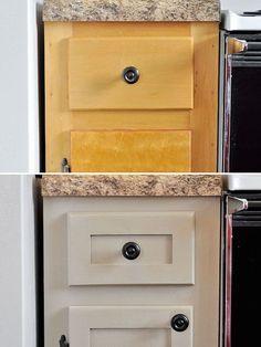 # 11.  Actualice sus gabinetes con piezas adicionales de moldeo y corte.  - 27 sencillos proyectos de remodelación que transformarán por completo tu casa