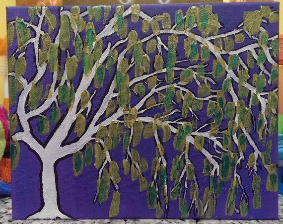 Weeping willow tree fine art original abstract by polarizedart