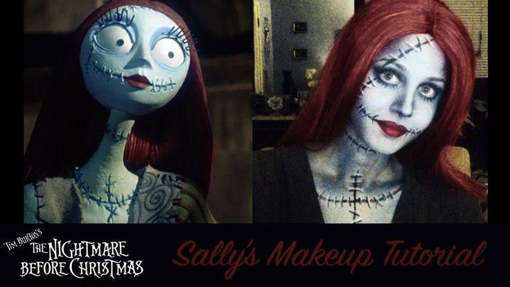 "The Nightmare Before Christmas ""Sally"" Makeup Tutorial"