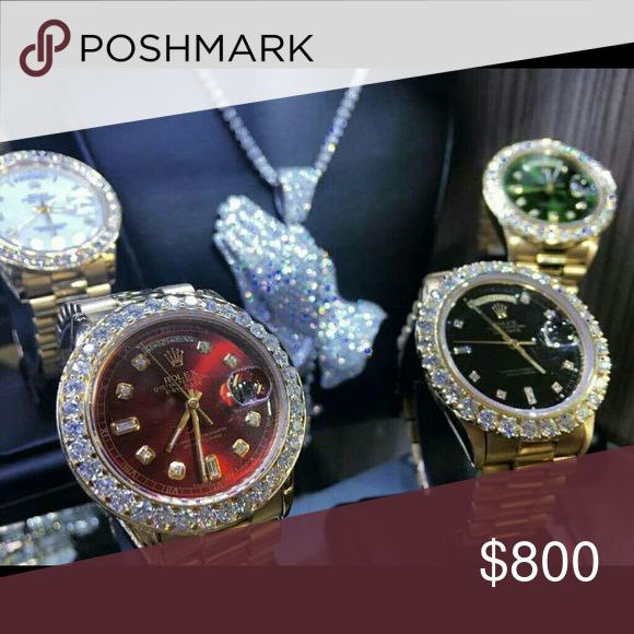 Rolex Datejust Brand new Clarity Diamonds water💧💧 Priced to sell Will look at offers Shoot me offers Thanks💧 For Deals and offers. ▶TE,,XT◀  708 ▶973▶0090◀ For every offer thanks💧💧 Rolex Accessories Watches