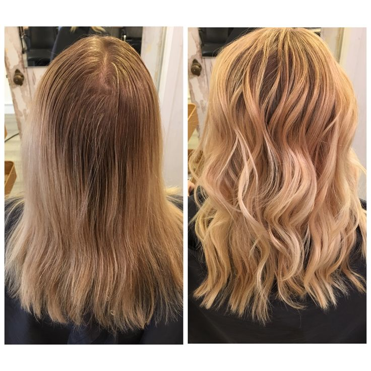 before and after blonde balayage from footy natural blonde ombré white blonde curls