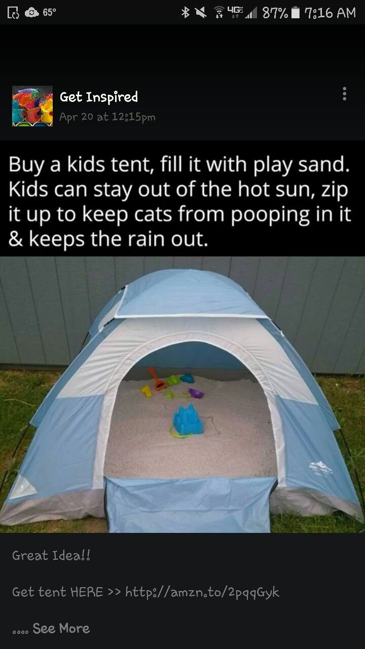 Great idea for sand box