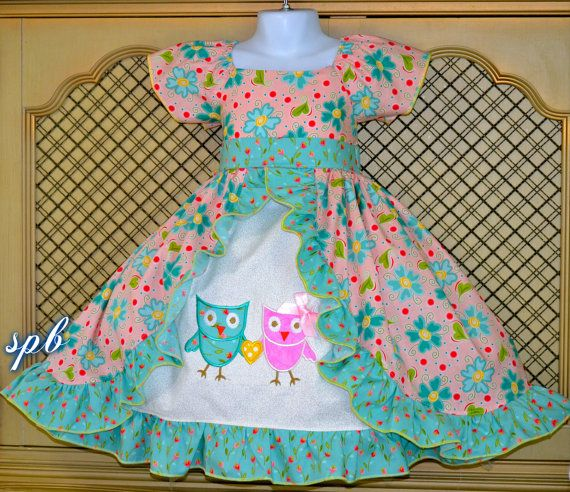 NEW item for sale! MTOBlue FLoral spring time dress girls size by SweetPeaBlossoms, $55.00