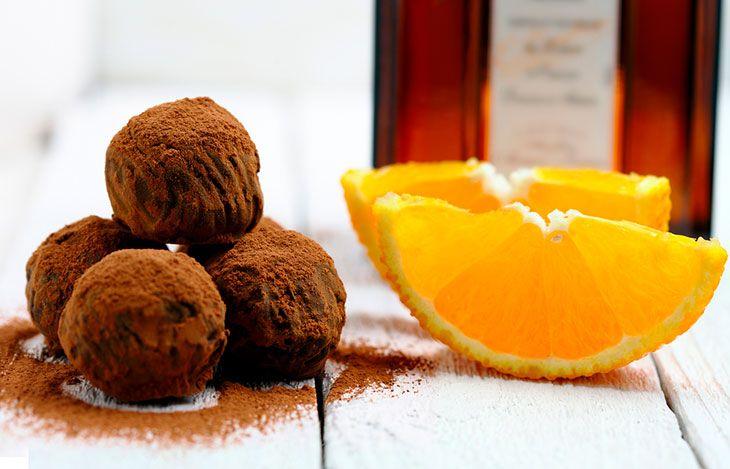 Receita de trufa de laranja e chocolate