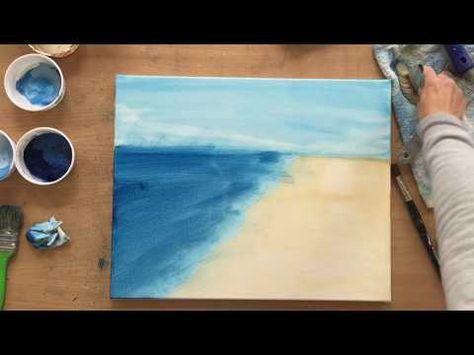 Himmel Wolken malen,mit Acryl, Lasurtechnik, Tutorial, Acryltechniken, Anfänger, Anleitung – YouTube – Rumpeldi