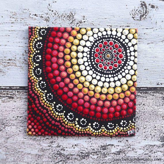 Incendios de diseño pintura del arte aborigen punto por