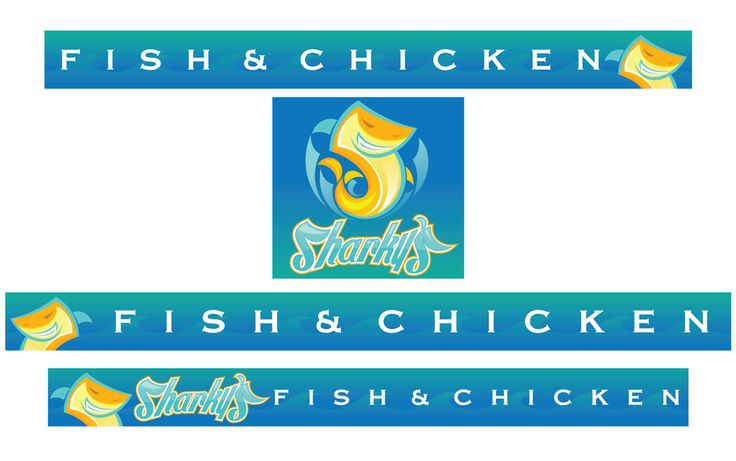 Create exterior signage for Sharky