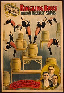 May 19, 1884: The Ringling Brothers circus premiers in Baraboo, Wisconsin.