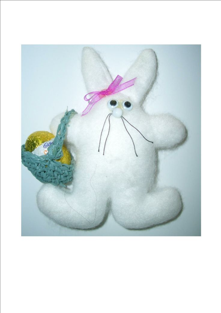 Easter craft  Easter bunny How to make a cute and easy Rabbit. Free template.