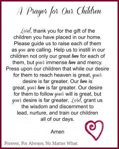 A simple prayer for our children.