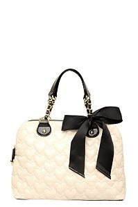 Betsey Johnson - Cream Mine & Yours Dome Satchel | Accessories