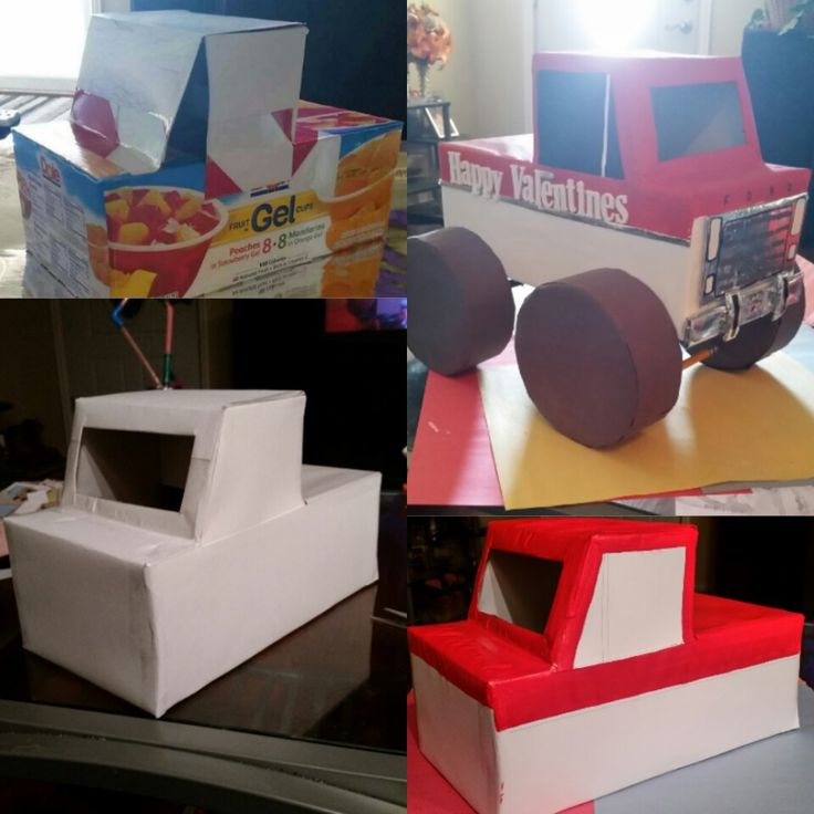 I made this Valentines Card Holder for my son for school :) Monster Truck