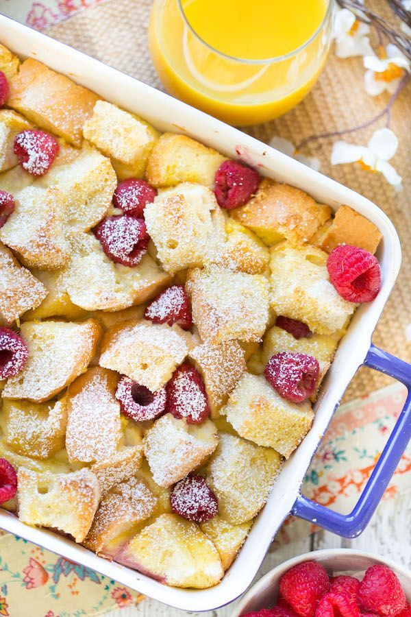 Lemon Raspberry French Toast Casserole
