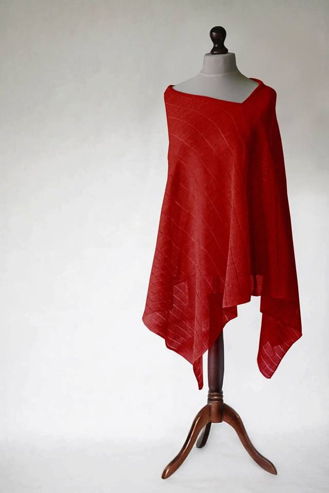 PURE LINEN PONCHO, knitted machine, wrap poncho, linen sweater, knit poncho,linen cape,women poncho,women sweater,natural poncho,linen scarf by KnitwearFactory on Etsy