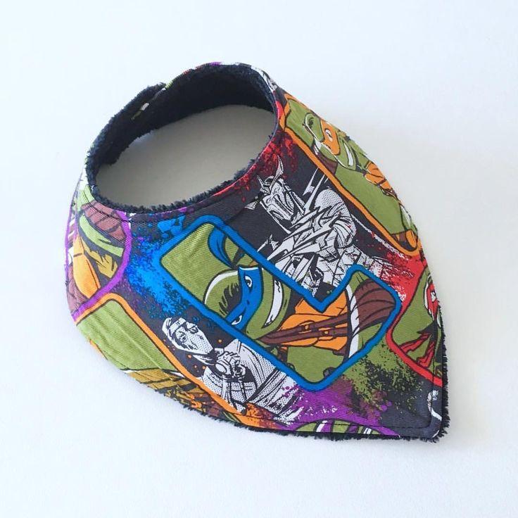 Bandana Bib made with Ninja Turtles Bib www.etsy.com/au/shop/MummyGDub