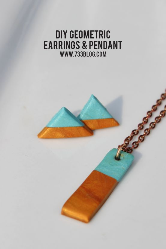 Clay Geometric Earring and Necklace Set - seven thirty three