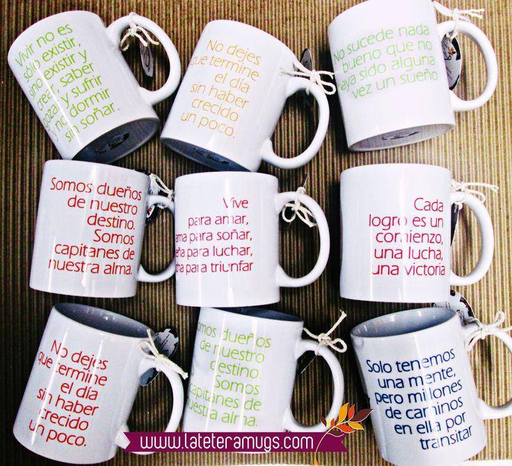 Salí de lo habitual y disfruta de tu mug personalizado!! Contamos con un gran portafolio de productos, colecciones especiales y nuestra propuesta para mugs empresariales, fechas especiales y fabricaciones a la medida. En la Tetera diseñamos a tu gusto!!