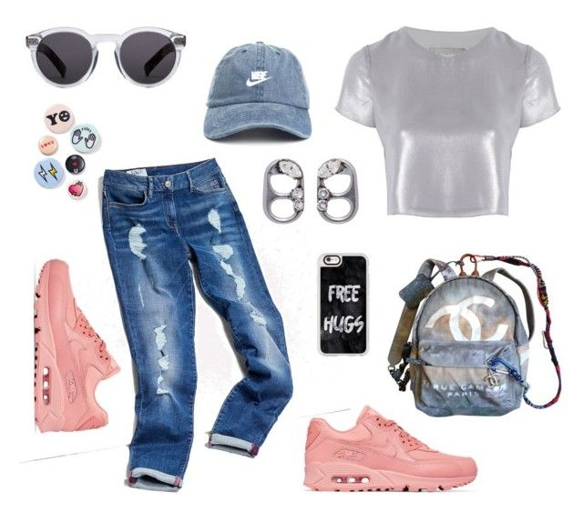 """""""shampain days"""" by ell-richards ❤ liked on Polyvore featuring Tommy Hilfiger, NIKE, Related, Marc Jacobs, Bing Bang, Chanel, Casetify and Illesteva"""