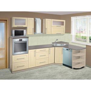 Levná kuchyňská linka 040   barevné provedení: ore