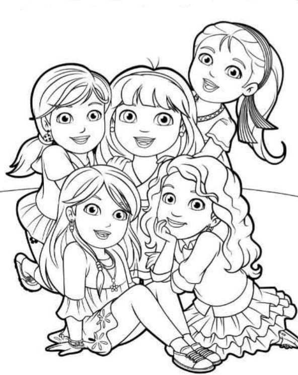 Dora And Friends Coloring Pages Stvx Kids N Fun 6 Coloring Pages