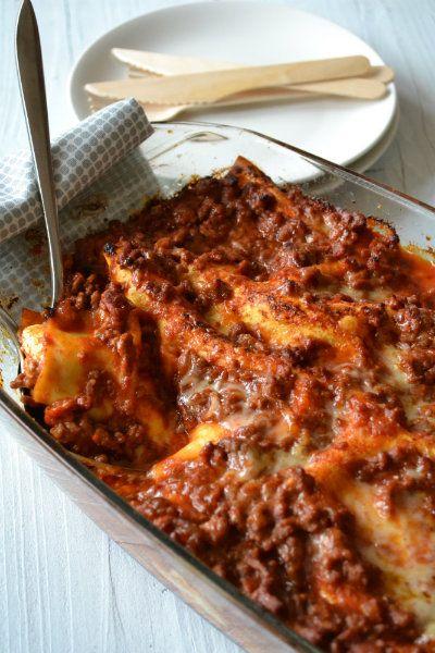 Een lekkere smeuïge lasagne met mozzarella en creme fraiche!