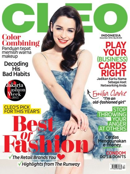 CLEO Indonesia December Issue with #EmiliaClarke on the cover