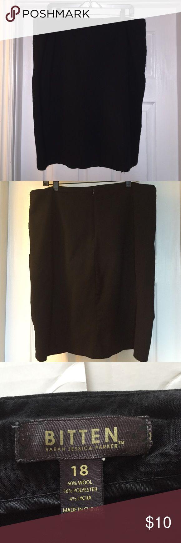 Bitten by Sarah Jessica Parker Pencil skirt Black pencil skirt. Zipper and short slits on the back. Bitten by Sarah Jessica Parker  Skirts Pencil