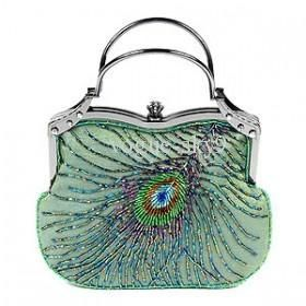 Foldaway Tote - Peachock feather by VIDA VIDA D9zjbctScJ