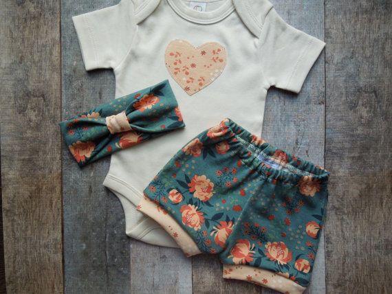 Baby Girl Clothes Organic Baby gift set by LittleLotusOrganics