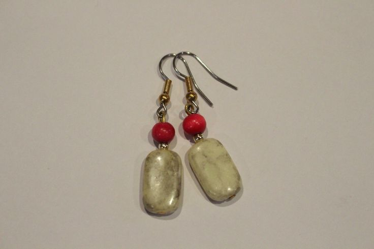 A personal favourite from my Etsy shop https://www.etsy.com/au/listing/254490047/faux-marble-earrings-with-red-beads