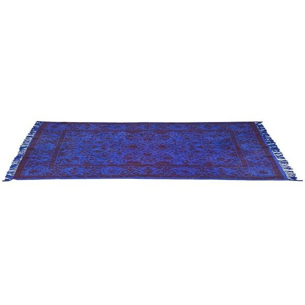 Teppich Orient Blue 240x170 cm Blau Baumwolle by Kare ($325) ❤ liked on Polyvore featuring home, rugs, floors, furniture, carpets, blue area rugs, oriental style rugs, oriental rugs, asian area rugs y kare