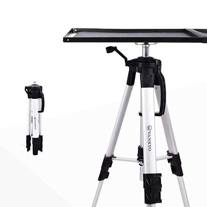 Vankyo Aluminum Tripod Projector Stand Adjustable Laptop Stand Multi Function Stand Computer Stand Adjustable He Projector Stand Computer Stand Laptop Stand