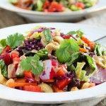 Thaise regenboogsalade met pindakaas dressing | Eat.Pure.Love