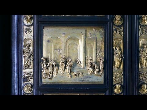 """Khan Academy  Lorenzo Ghiberti, """"Gates of Paradise,"""" East Doors of the Florence Baptistery, bronze, 1425-52. Speakers: Dr. Steven Zucker and Dr. Beth Harris"""