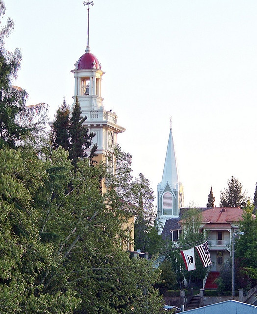 Sonora, Ca. That is the top of the courthouse where Adam and I were married.