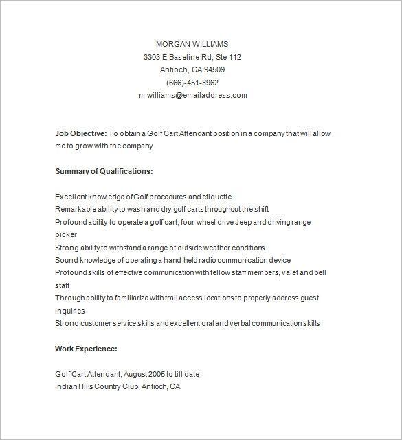 7 Golf Caddy Resume Templates Doc Pdf Free Premium Resume Template Resume Resume Design Template
