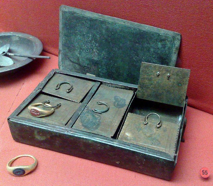 Roman Treasure or Jewellery Box. Musée d'Archéologie National Paris.
