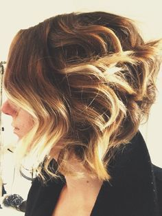 Seeing as how ombre is in trend right, just goes on to show that short hair ladies can also rock it!