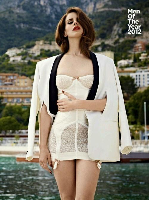 Lana del Rey for GQ Magazine wearing the Confetti Lace Angela dress by Bordelle. #lingerie