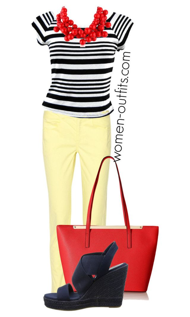 blue red yellow by xwtiko on Polyvore featuring Ultra Flirt, 10 Crosby Derek Lam and Kenneth Jay Lane