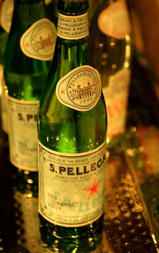 San Pellegrino sparkling water...my choice of bubbley when i'm craving a soda~