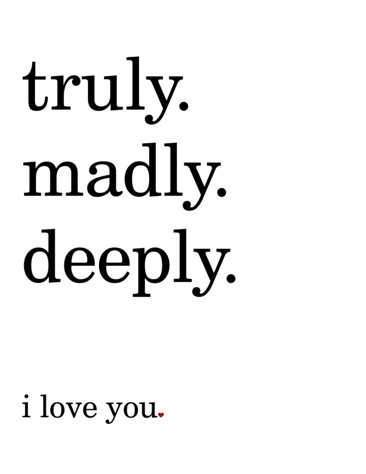 Truly madly deeply dating