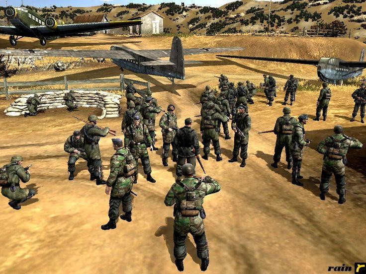 "Company of Heroes, my In-game Screenshots. Unternehmen Merkur (""Operation Mercury"") Battle of Crete (Luftlandeschlacht um Kreta) ""Mountain troops prior to their transfer to Crete"" On 25 April, Hitl..."
