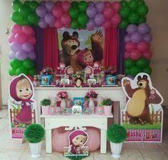 Resultado de imagen para decoracion de masha y el oso para niña