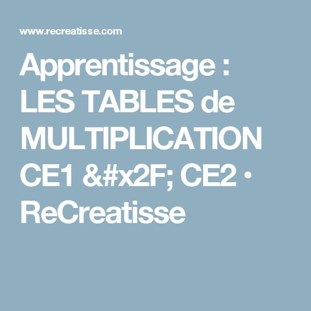 17 meilleures id es propos de tables de multiplication for Table de multiplication jeux ce2