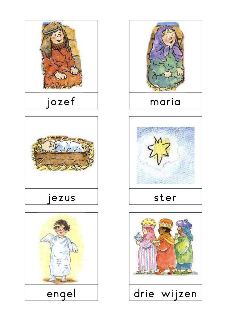 Woordkaarten 'Kerstmis' 1
